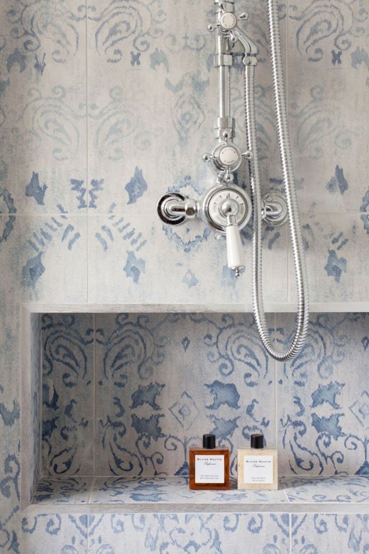 mosaic blue shower